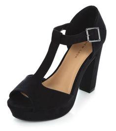 - T-Bar design- Ankle strap fastening- Peeptoe front- Block heel- Soft finish- Heel length:4.5