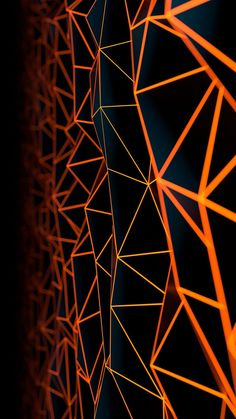 orange, pattern, line, symmetry, triangle, iphone wallpaper