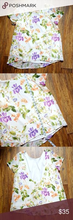 Show Me Your Mumu M Camden Top in Pressed Floral Beautiful top great for warm weather! It is used and may show a few signs of wear like some pilling. Some photos may have been lightened to show detail. Please ask any questions before purchase! Make an offer:) Show Me Your MuMu Tops Blouses