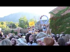 You Know Productions: Chi Omega CU Boulder Bid Day 2013  I love my sorority and my school