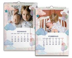 Calendario Multipagina A4 Nuvole