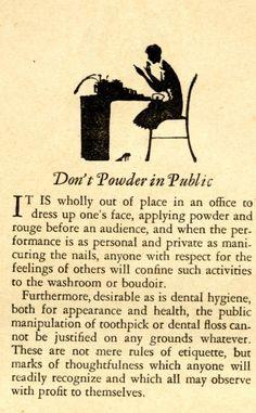 """""""Dont Powder in Pub"""