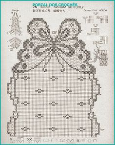 This Pin was discovered by davru / Photo # 30 - Everything for the house - 2 - Filet Crochet Charts, Crochet Motifs, Crochet Doilies, Crochet Stitches, Crochet Table Runner, Crochet Tablecloth, Crochet Butterfly, Crochet Flowers, Butterfly Table