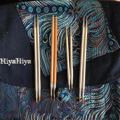 HiyaHiya Steel Interchangeable Set We love this picture which from @petiteweaver ! day 9: tools! My fav needles are hiya hiya sharps! I love them son much I have two sets of the small 5in tips, one bamboo set, and one 4in set 😝 Im never at a loss for cables either @hiyahiyabrand --- @petiteweaver (Instagram Name) said.