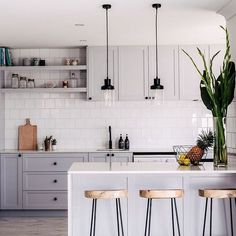 46 Excellent Kitchen Cabinet Design Ideas That Very Popular. Kitchen cabinet design offers abundant options for every re-modeler to find the perfect cabinets for their new kitchen. Understanding the b. Grey Kitchen Cabinets, Kitchen Cabinet Design, Interior Design Kitchen, Kitchen Countertops, Kitchen Hardware, Grey Cupboards, Kitchen Sinks, Grey Countertops, Wood Cabinets