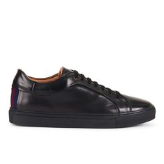 Paul Smith Shoes Men's Nastro Leather Cupsole Trainers - Nero: Image 11