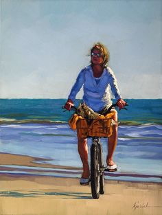 Bicycle for Two; Karin Jurick (from dailypaintworks.com)