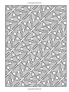 Creative Haven Tessellation Patterns Coloring Book Books John Wik