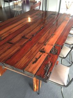 amish kitchen tables diy refinish cabinets 15 best charles barr dining images rustic industrial 12 14 seater huge table