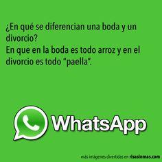 Chistes WhatsApp: Boda y divorcio