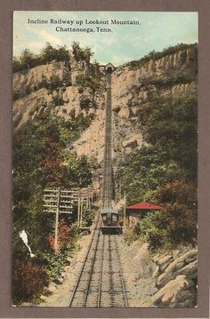 INCLINE RAILWAY LOOKOUT MOUNTAIN CHATTANOOGA TENNESEE 1918 POSTCARD