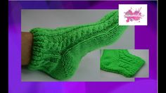 Tejer calcetines con dos agujas// Knitting socks with two needles. Knitting Videos, Crochet Videos, Loom Knitting, Knitting Socks, Knitting Patterns, Knitting Needles, Knitted Mittens Pattern, Knitted Slippers, Knit Mittens