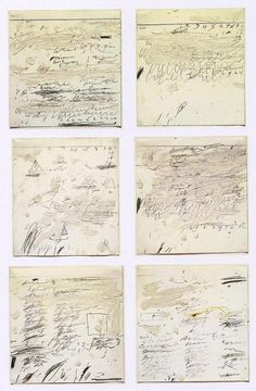 Cy Twombly ~ Poems to the Sea i-vi, 1959 (oil, graphite, wax crayon on paper) Cy Twombly, Creation Image, Modern Art, Contemporary Art, Poesia Visual, Art Ancien, Robert Rauschenberg, Medium Art, Oeuvre D'art