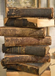Vintage Treasures - found at the City Farmhouse in Franklin, TN - via time worn interiors: City Farmhouse Old Books, Antique Books, Vintage Books, I Love Books, Great Books, Books To Read, Amazing Books, Stack Of Books, City Farmhouse