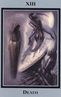 This deck of Tarot cards was selected by HR Giger himself. The great artist selected previously published work to act as each of the Major Arcana.