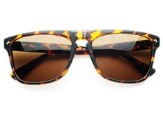 RETRO FLAT TOP WAYFARER SUNGLASSES TORTOISE FT092