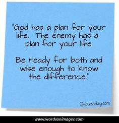 God Has a Plan for Your Life Quotes Questions about life/God? Description from pinterest.com. I searched for this on bing.com/images