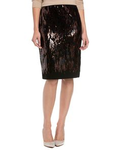 Spotted this Lafayette 148 New York Black Sequin Modern Wool Skirt on Rue La La. Shop (quickly!).
