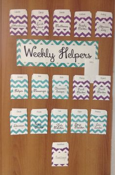 Weekly Helpers