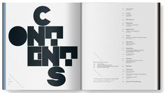 i'm always interested in new ways to design table of contents pages. mmm. this one is great.