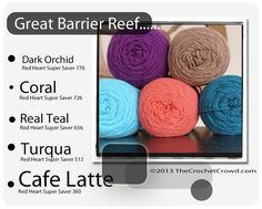 Great-Barrier-Reef Super Saver Color Mix by The Crochet Crowd®, via Flickr