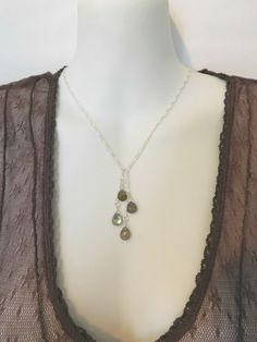 Labradorite Facated Teardrop Briolette Pendants and Silver filled Chain, Boho Chic Necklace, Y Necklace by jljewellerydesign on Etsy, https://www.etsy.com/au/shop/jljewellerydesign