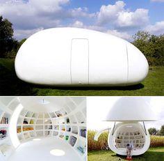 #Biuro w kształcie jajka, które można postawić w ogródku. Jeszcze nigdy praca nie była tak blisko domu.