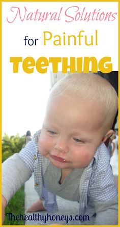 Teething. I cringe at the word. In the past for me it has meant months of restless nights, many nights of waking up to play with babies for hours. #natural #teething