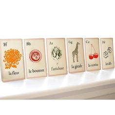 Darling little French retro style abc cards