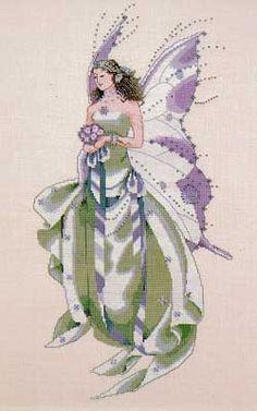 July's Amethyst Fairy - Mirabilia Cross Stitch Pattern
