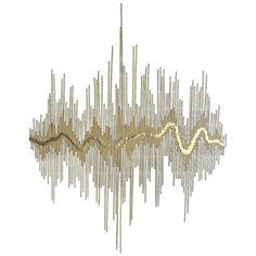 """Sound Waves"" Metal Wall Sculpture"