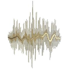 """Sound Waves"" Metal Wall Sculpture"