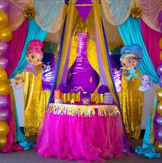 Shimmer and Shine fifth birthday party | CatchMyParty.com
