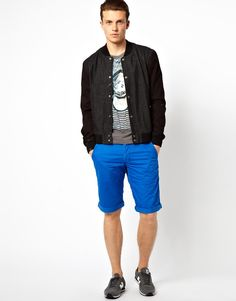 Esprit Chino Shorts with the ASOS Denim Bomber is my #ASOSfest pick!