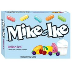 Great Mike and Ike Italian Ice Chewy Candy Ounce Theater Size Pack 1 Box Good Food, Yummy Food, Awesome Food, Mike And Ike, Chewy Candy, Italian Ice, Candy Gifts, Gourmet Recipes, Theater