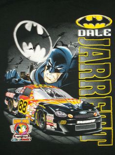 Dale Jarrett #88 Vintage NASCAR Batman vs Joker at Charlotte Size L 100% Cotton