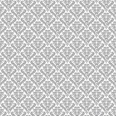 Canvas Corp - 12x12 Cardstock - Grey and White Damask,$0.59