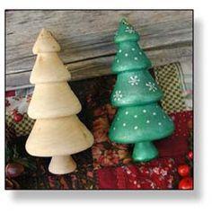 Turned Big Christmas Tree Ornament