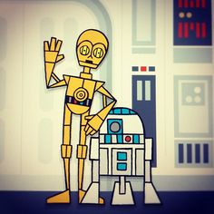 C3PO R2D2 on the Blockade Runner by invisibleElement, via Flickr