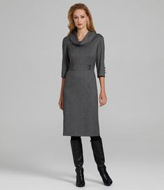 Antonio Melani Caleigh Cowlneck Herringbone Dress | Dillards.com