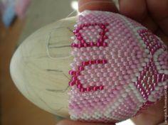 Пасхальное яйцо из бисера без предварительной схемы - Ярмарка Мастеров - ручная работа, handmade