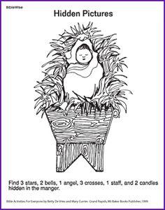 Hidden Pictures Printables Religious  Preschool Bible Puzzles