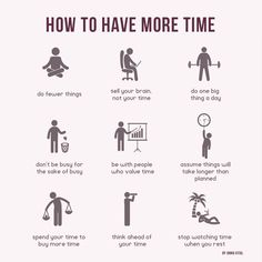 Infographic - How to have more time - by Anna Vital