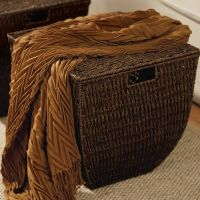 Our tapered lidded storage basket is eco-friendly because it's made with sustainable seagrass, and sturdy because it's woven over a wire frame.  Earn it free by hosting a Signature HomeStyles party!  Learn more at www.signaturehomestyles.biz/carolmccarthy