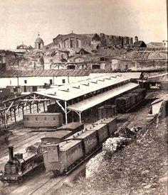 Stazione Termini. Sullo sfondo le Terme di Diocleziano. Anno: 1865
