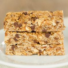 Chewy Peanut Butter-Chocolate Chip Granola Bars | Brown Eyed Baker