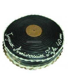 Gâteau disque vinyl