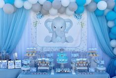 Baby elephant inspired for this amazing baby shower elephantbabyshower elephantinspired babyelephant babyshower itsaboy sweetbaby… Distintivos Baby Shower, Elephant Baby Shower Cake, Peanut Baby Shower, Shower Bebe, Baby Shower Backdrop, Baby Shower Balloons, Baby Shower Favors, Baby Shower Parties, Elephant Baby Shower Centerpieces