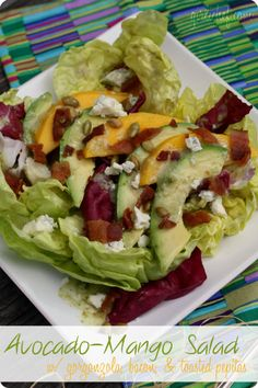 girlichef: Avocado-Mango Salad w/ Gorgonzola, Bacon, & Toasted Pepitas