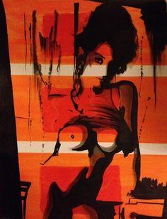 "Saatchi Online Artist Eka Peradze; Painting, ""Romance. 70x90cm.#57/7"" #art"